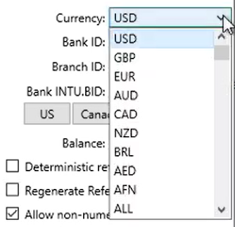 Bank2QBO Step 8: Currency