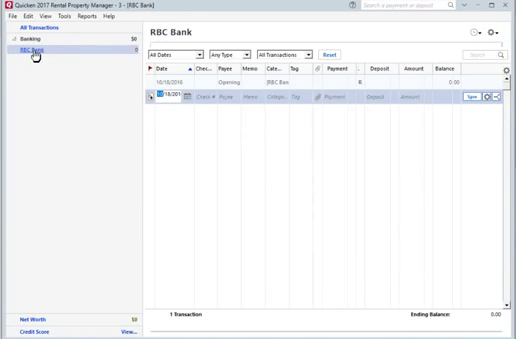 How to convert CSV or Excel file to QIF and import into Quicken 2017 for PC Step 15: RBC