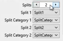 Convert CSV files with splits Step 7: number of splits