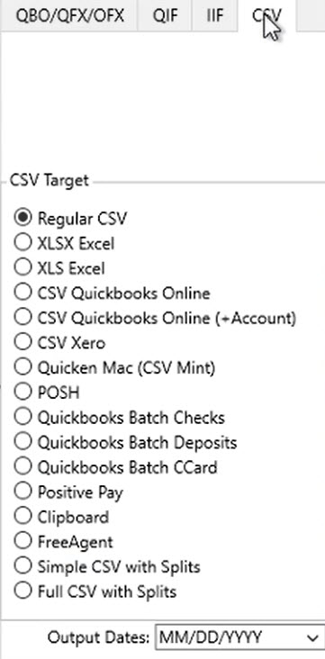 How to convert a QIF file Step 6: Convert to CSV