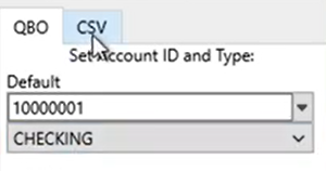 Converting transactions to CSV, Excel, TXT Step 2: to QBO or to CSV