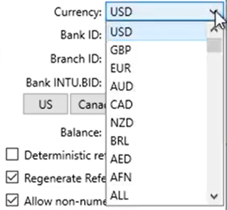 CSV2QFX Step 8: Currency