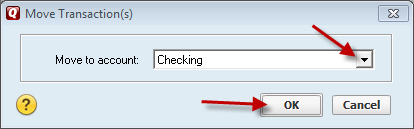 select final account where to move transactions