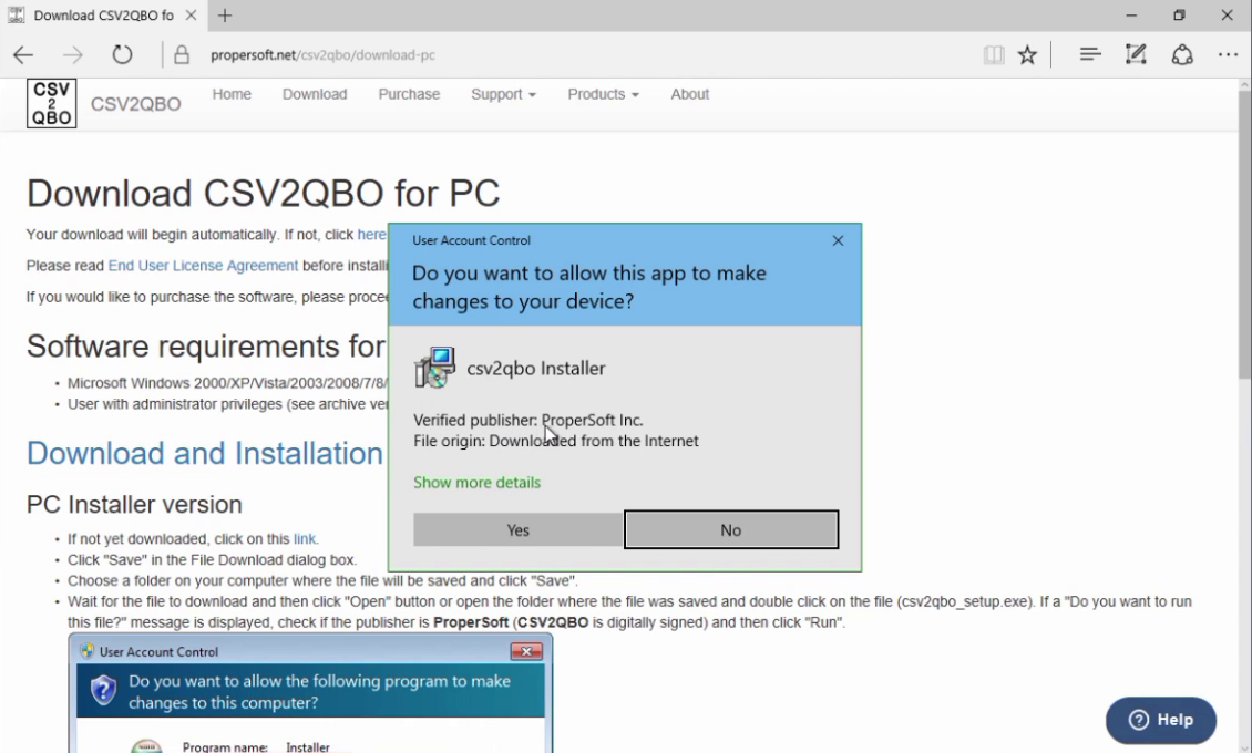 How to import CSV or Excel files as QBO into Quickbooks Step 1: verified publisher