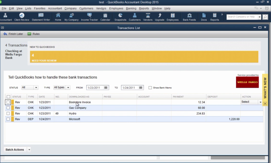 How to import CSV or Excel files as QBO into Quickbooks Step 28: downloaded as column