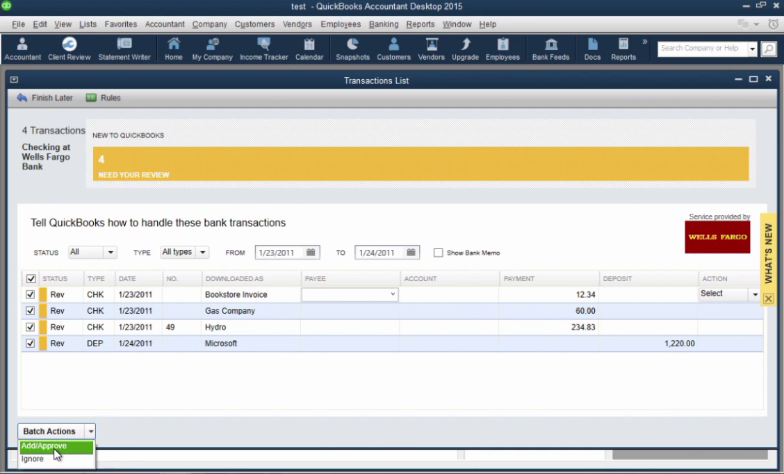 How to import CSV or Excel files as QBO into Quickbooks Step 31: add, approve