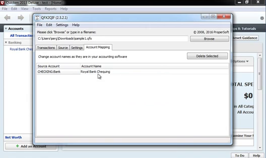 How to import QFX Web Connect files as QIF files into Quicken 2013 or earlier Step 10: account mapping