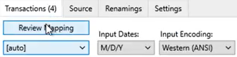 How to map CSV amount columns Step 3: Review Mapping