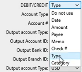 How to map CSV amount columns Step 7: CSV Mapper Type