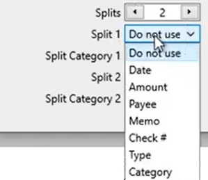 Mapping CSV files Step 12: review mapping split