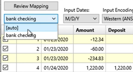 Mapping CSV files Step 14: auto mapping