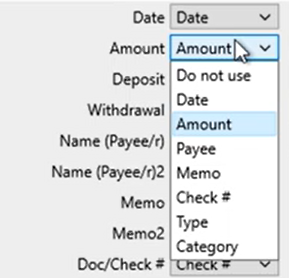 Mapping CSV files Step 6: review mapping amount