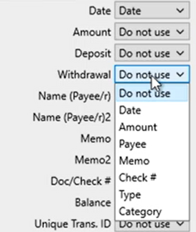 Mapping CSV files Step 7: review mapping withdrawal