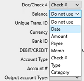 Mapping CSV files Step 9: review mapping balance