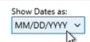 PDF2QBO Step 8: Date Format - Month, Day, Year