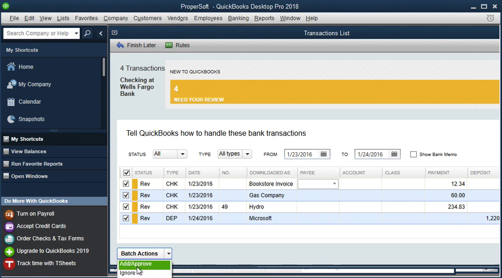 QIF2QBO: Convert QIF to QBO and import into Quickbooks Step 19: payee