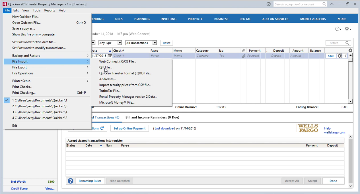 How Quickly Prepare and Print Checks in Quicken Step 11: file, import again