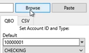 Selecting a file to convert Step 4: browse