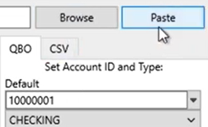 Selecting a file to convert Step 6: paste