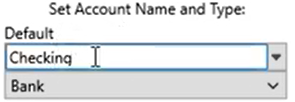 Set attributes for the QIF files Step 3: Account Name