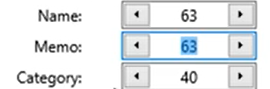 Set attributes for the QIF files Step 8: name, memo, category