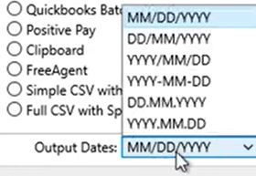 Set attributes to convert to the CSV format Step 5: output dates