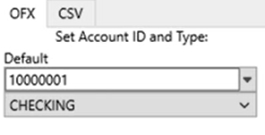Set attributes to convert to the OFX format Step 2: OFX Tab