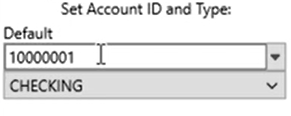 Set attributes to convert to the OFX format Step 4: Account ID