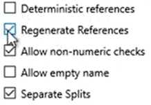 Set attributes to convert to the OFX format Step 8: Regenerate references