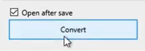 Set parameters to convert to the QFX format Step 14: Convert