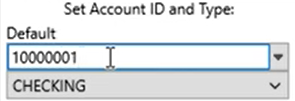 Set parameters to convert to the QFX format Step 3: Account ID