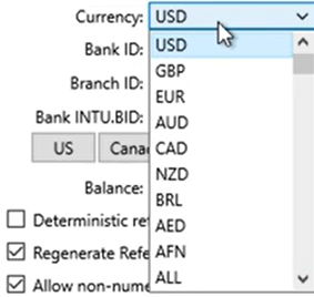 Set parameters to convert to the QFX format Step 5: Currency