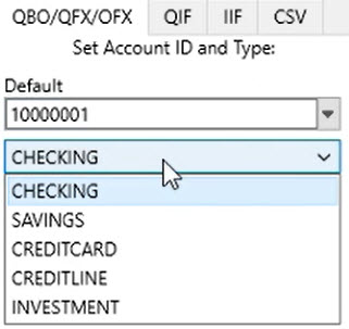 How to use Transactions Step 9: Account Type