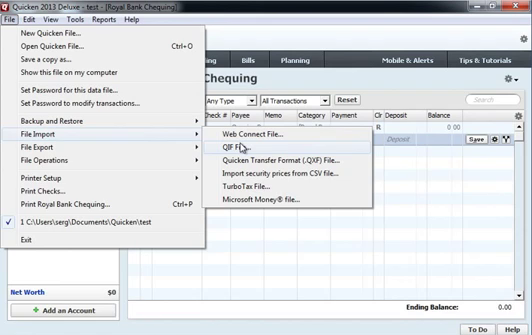 Use CSV2QIF to import CSV as QIF into Quicken 2013 Step 12: file import