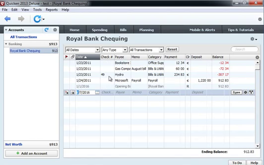 Use CSV2QIF to import CSV as QIF into Quicken 2013 Step 16: review imported transactions