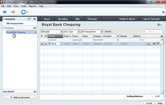 Use CSV2QIF to import CSV as QIF into Quicken 2013 Step 2: royal bank