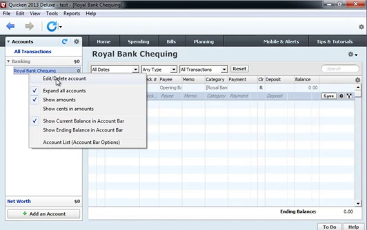 Use CSV2QIF to import CSV as QIF into Quicken 2013 Step 8: edit account