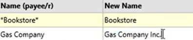How to use the Renamings tab Step 15: Gas company Inc