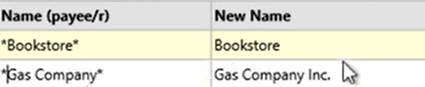 How to use the Renamings tab Step 17: Gas company clean Name