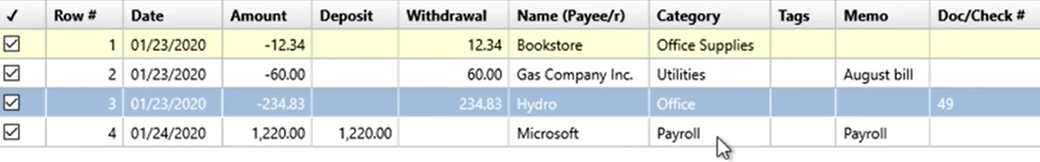 How to use the Renamings tab Step 22: Payroll