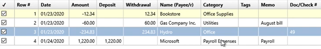 How to use the Renamings tab Step 24: renamed Payroll