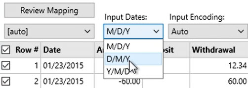 How to work with CSV or Excel files Step 13: Input Dates