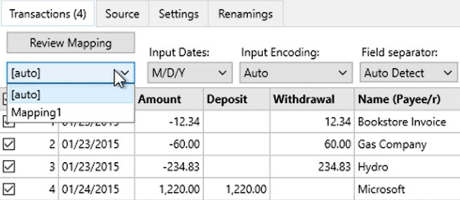 How to work with CSV or Excel files Step 4: auto mapping
