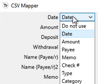 How to work with CSV or Excel files Step 8: CSV Mapper Date