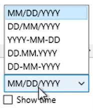 How to work with loaded transactions Step 5: Show dates as