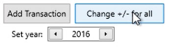 How to work with loaded transactions Step 7: Change +/- for all
