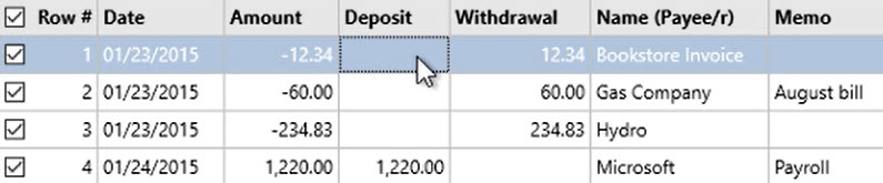 How to work with transactions Step 12: highlight transactions, one