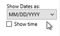 How to work with transactions Step 6: Show Dates as