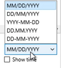 How to work with transactions Step 7: Show Dates as, MDY