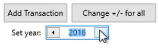 How to work with transactions Step 8: Set year